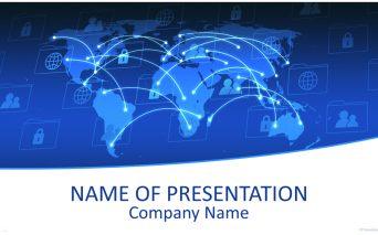 Internet Communication グローバルなビジネスをイメージするパワーポイントテンプレート