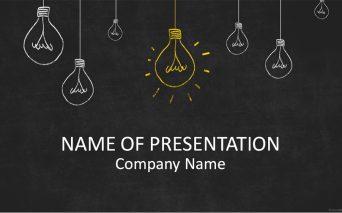 Light Bulbs On Blackboard 新規企画のプレゼンにぴったり!手書き風イラストのパワーポイントテンプレート