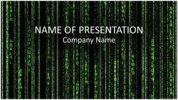 Matrix Code 映画マトリックスの背景がパワーポイントテンプレートに