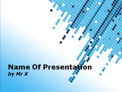 水色のタイルがおしゃれなすっきりしたパワーポイントテンプレート Multi Cubes Powerpoint Template
