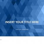 青のモザイク柄がオシャレなパワーポイントテンプレート Blue Mosaic PowerPoint Template