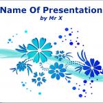 ブルーの花がかわいらしいパワーポイントテンプレート Blue Blooming Flowers powerpoint template