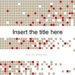 ドット柄のデザインがシンプルでスタイリッシュなパワーポイントテンプレート Pixel – Free Template for PowerPoint