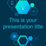 落ち着いたダークデザインがおしゃれなパワポテンプレート Imogen presentation template