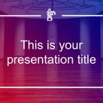 グラデーションをかけた写真がおしゃれなパワポテンプレート Vicentio presentation template