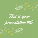 植物の装飾をシンプルにさりげなくあしらったおしゃれなパワポテンプレート Ceres presentation template
