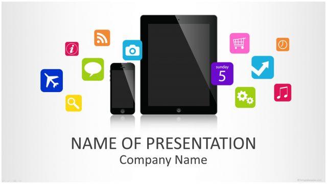 アプリの企画やイベントで大活躍しそうなパワーポイントテンプレート Mobile Applications