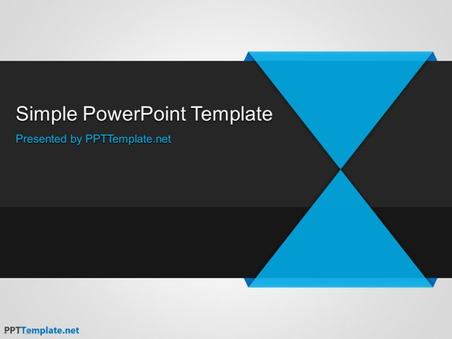 シンプルなビジネス用パワーポイントテンプレート Free Simple PPT Template