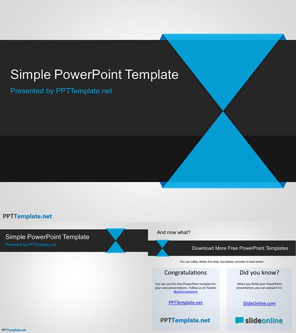 シンプルなビジネス用パワーポイントテンプレート