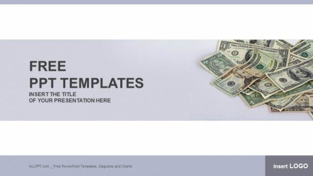お金がたくさんあるイメージのパワーポイントテンプレート USA Cash-Finance PowerPoint Templates