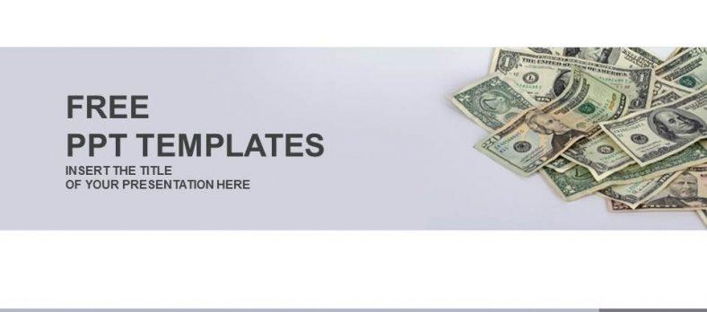 お金がたくさんあるイメージのパワーポイントテンプレート usa cash