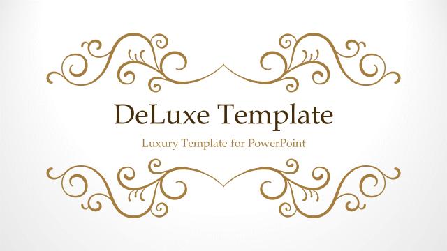 高級感を演出したいときに使いたい!無料パワポテンプレート DeLuxe – Luxury PowerPoint Template