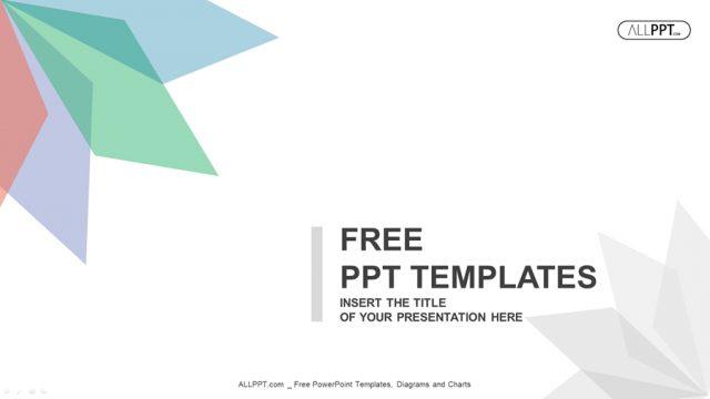 ありきたりであたりさわりのないおしゃれなパワーポイントテンプレート Abstract background with leaves of different colors PowerPoint Templates