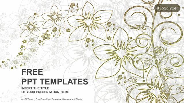 大人っぽくておしゃれ!花をモチーフにしたパワポテンプレート Abstract Floral Nature PowerPoint Templates