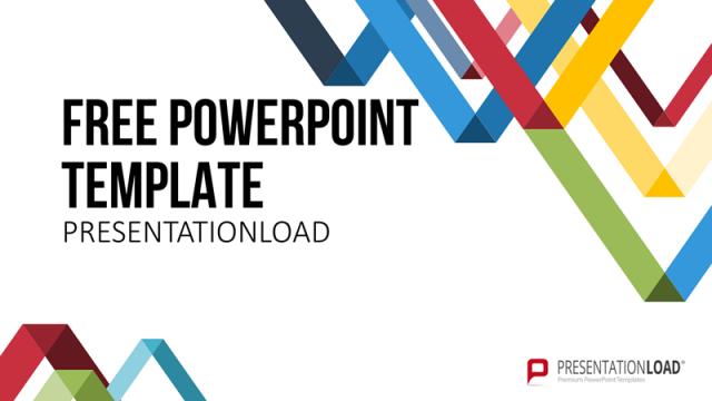 センスの良いビジネス用パワポテンプレート Free PowerPoint Template LowPoly Triangles
