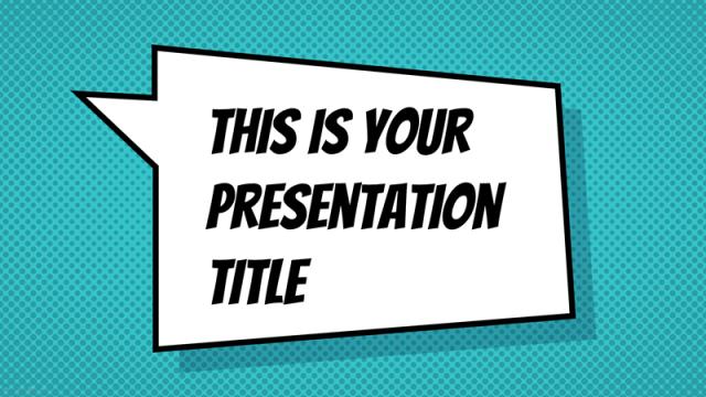 アメコミ風のポップなパワポテンプレート Jachimo presentation template