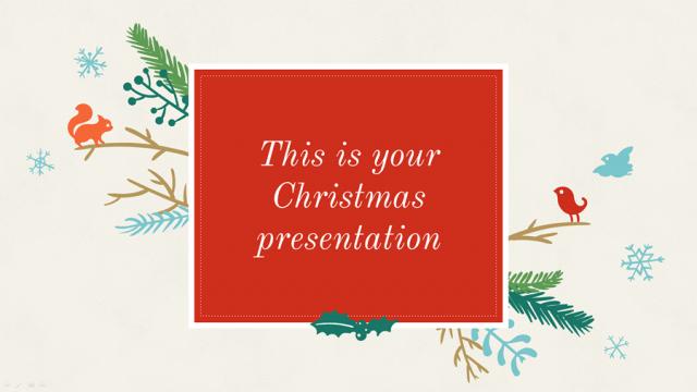 クリスマス用かわいいイラストのパワポテンプレート Christmas 2015 presentation template