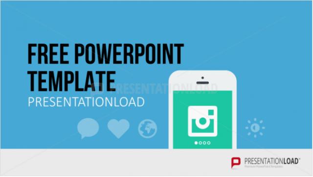 スマホアプリのプレゼンで使えるパワポテンプレート Free PowerPoint Template Mobile App