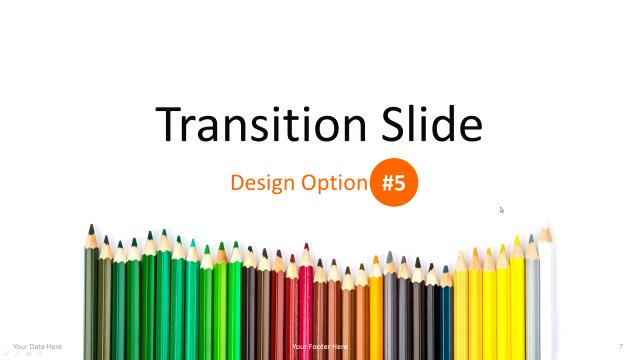 教育系で使えそうな色鉛筆をモチーフにしたパワポテンプレート Pencils