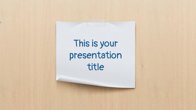 メモの紙とポラロイド写真をモチーフにしたパワーポイントテンプレート Jaques presentation template