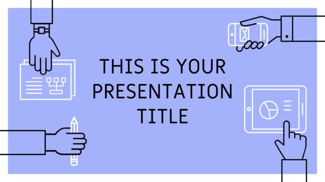 ビジネス用に使いやすいシンプルなパワポテンプレート Roderigo presentation template