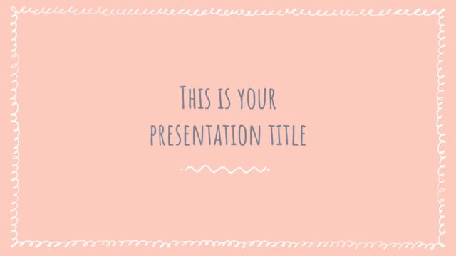 シンプルな手描き感がおしゃれなパワーポイントテンプレート Quickly presentation template