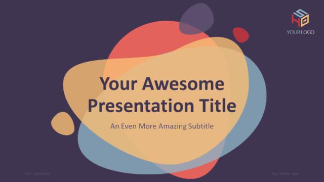 シンプルだからこそ使いやすいモダンなパワポテンプレート Bubbler – Modern PowerPoint Template