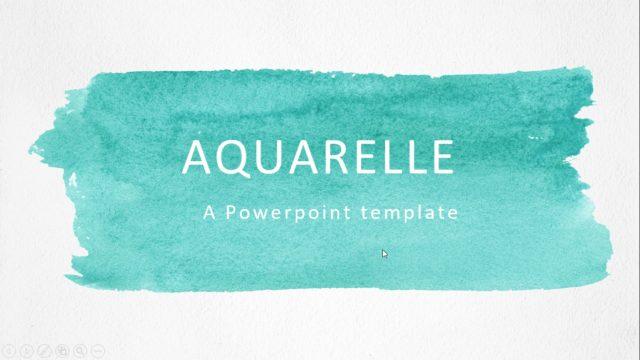 シンプルだけどインパクトがあるオシャレな水彩画風のパワーポイントテンプレート